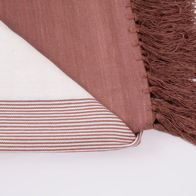 Tobacco Moroccan Bamboo Throw closeup