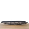 ark coloured Ankole cow horn oblong dish with streaks of white /ivory, light and chocolate brown