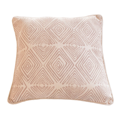 Diamond patterned cushion cover in Dove on Linen