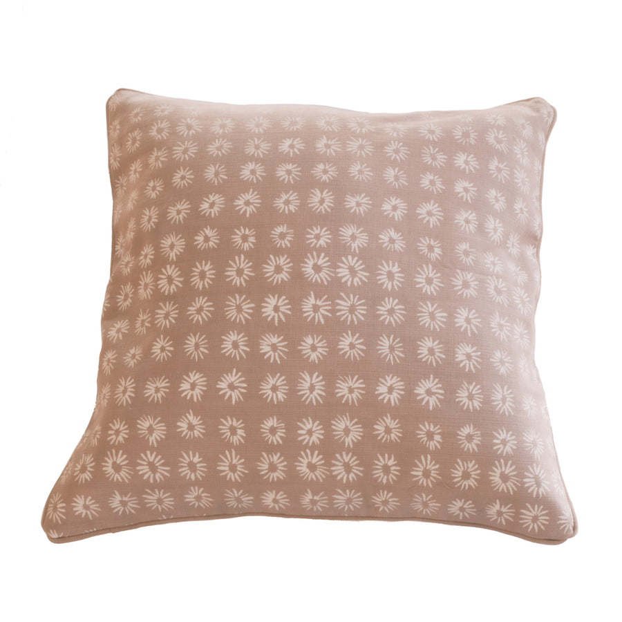 Mali Star Cushion Covers Chocolate on Linen Background