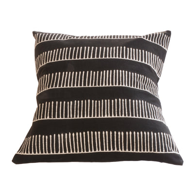 Black and White Rake Design Cushion Cover inspired by African Mud Cloth