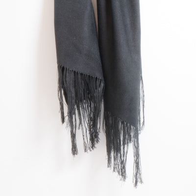 Dark Ash Fine Bamboo Pure Colour Scarves