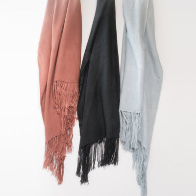 Fine Bamboo Pure Colour Scarves
