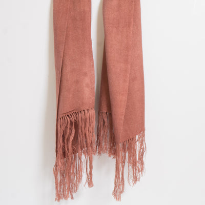 Tobacco Fine Bamboo Pure Colour Scarves