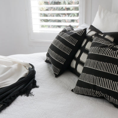 Black Rake Tribal Cushions