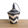 Rwandan Peace Basket Black and Tea ZigZag