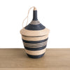 Rwandan Peace Basket Black and Tea Stripes