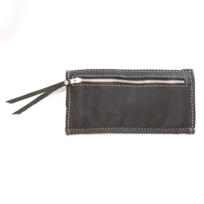 Cowhide Ticket Wallet with Black Leather
