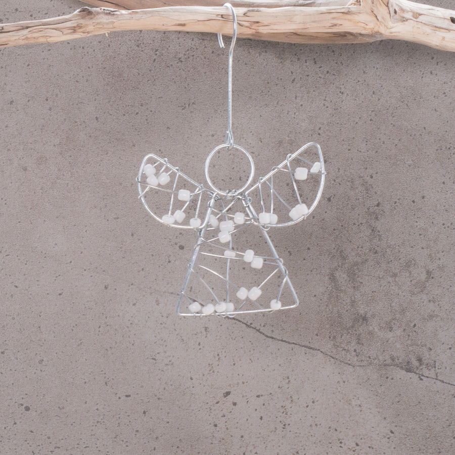 Angel Bead Wrapped Christmas Decoration