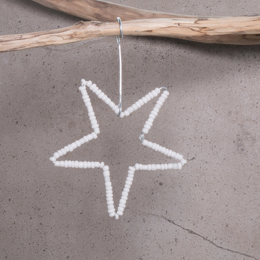 Star Beaded Christmas Decoration