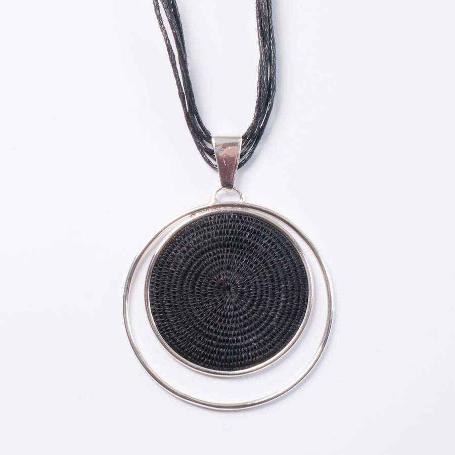 Black and Ginger Eclipse Statement Necklace