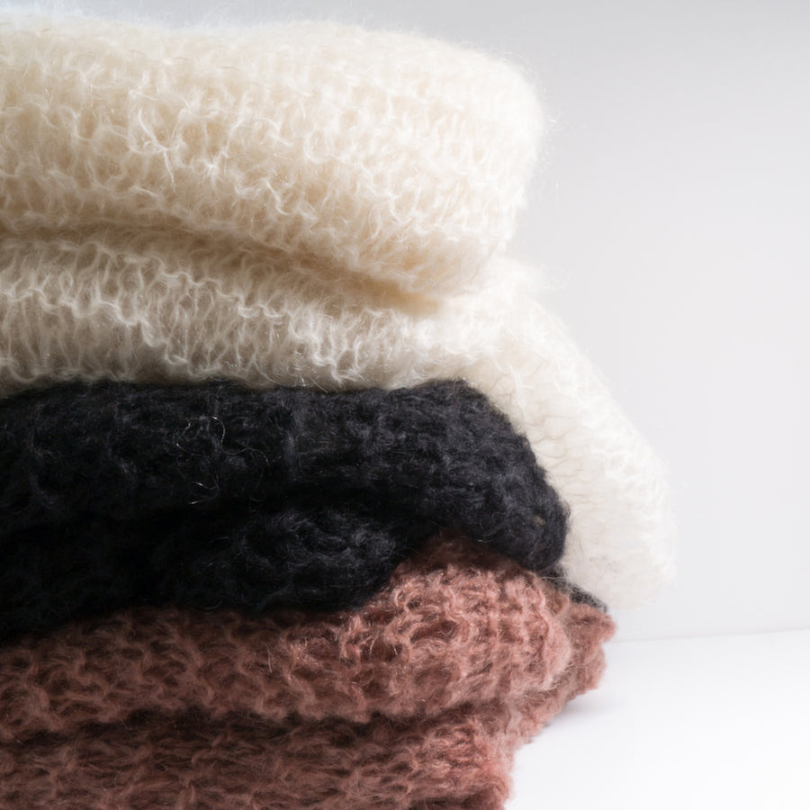 Hand knit Mohair Blankets
