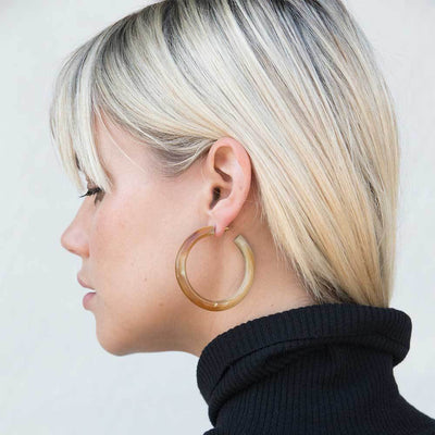Horn Hoop Earrings Styled