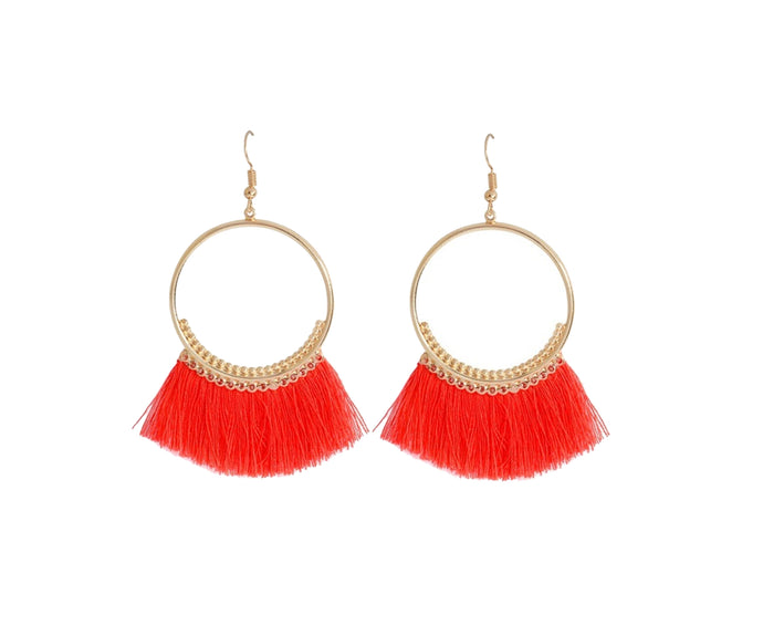 THE ORA EARRINGS - RED