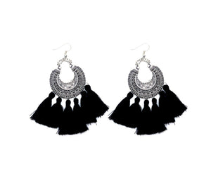 THE GABRIELLA EARRINGS - BLACK