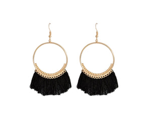 THE ORA EARRINGS - BLACK