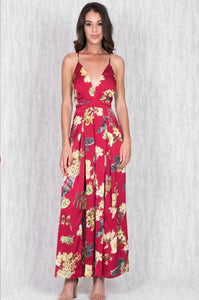THE ELLY JUMPSUIT IN RED FLORAL