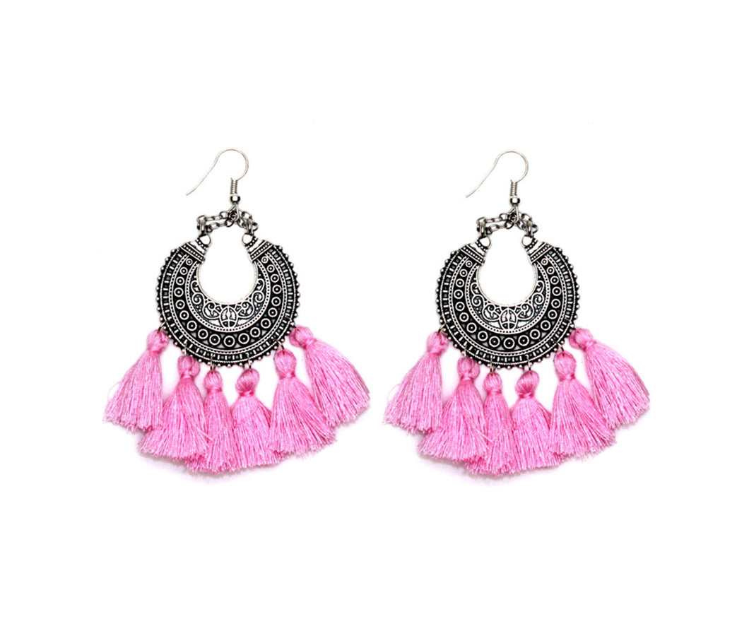 THE GABRIELLA EARRINGS - PINK