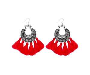 THE GABRIELLA EARRINGS - RED
