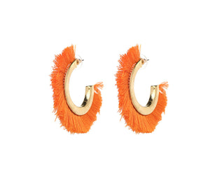 THE JOLIN EARRINGS - ORANGE