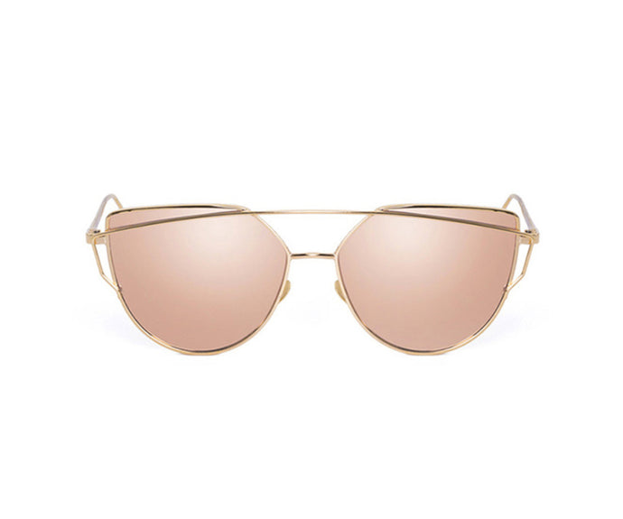 THE ROMEE SHADES - PINK AND GOLD