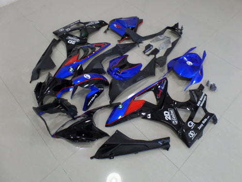 BMW S1000RR 2009 2014 DARK BLUE AND BLACK RED