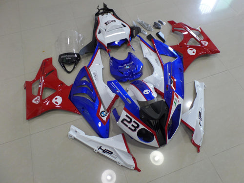 BMW S1000RR 2009 2014 WHITE RED AND BLUE