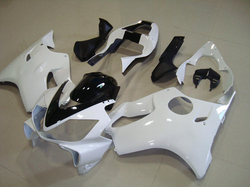CBR600F4i 2001 2003 ALL WHITE WITH BLACK STRIPE