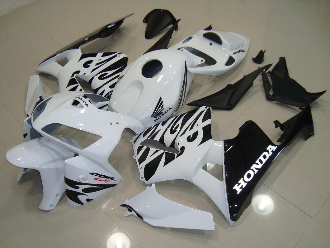 CBR600RR 2005 2006 WHITE AND BLACK 2