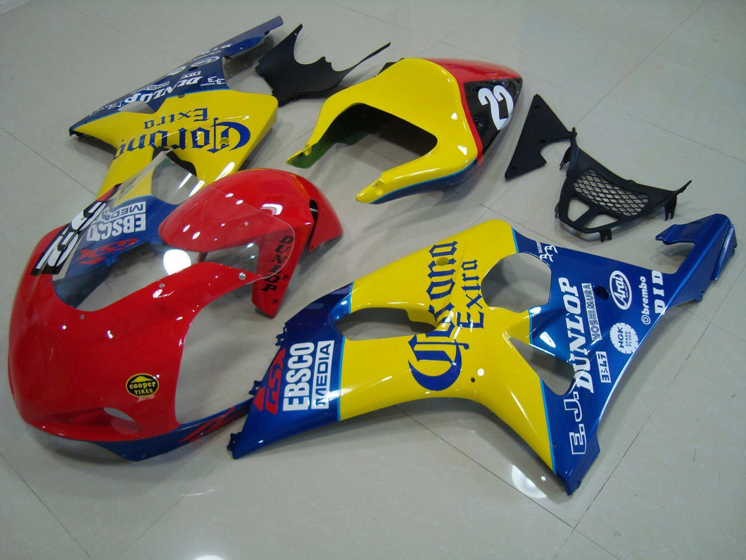 GSX R1000 2000 2002 RED YELLOW BLUE CORONA RACE