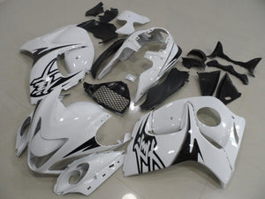 GSX R1300 HAYABUSA 2008 2016 WHITE AND BLACK DECALS