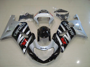 GSX R750 600 2001 2003 SILVER AND BLACK