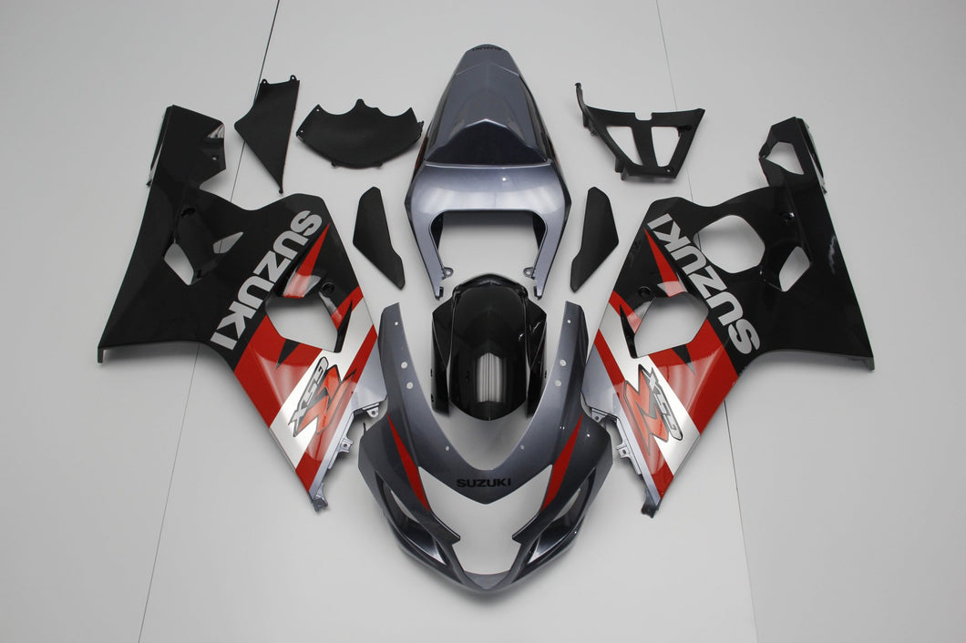 GSX R750 600 2004 2005 GREY AND BLACK AND RED