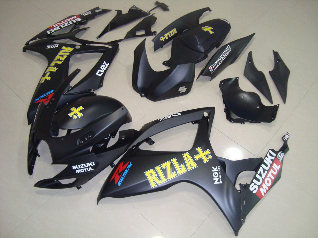 GSX R750 600 2006 2007 MATT BLACK RIZLA