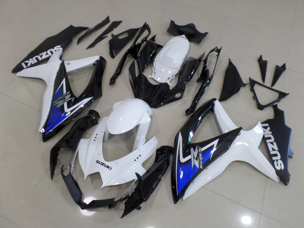 GSX R750 600 2008 2010 BLACK WHITE BLUE