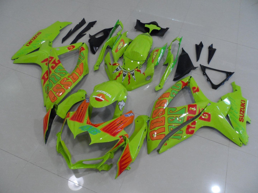 GSX R750 600 2008 2010 FROSCENT GREEN ROSSI