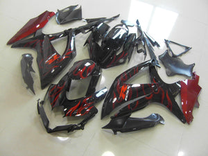 GSX R750 600 2008 2010 RED FLAME
