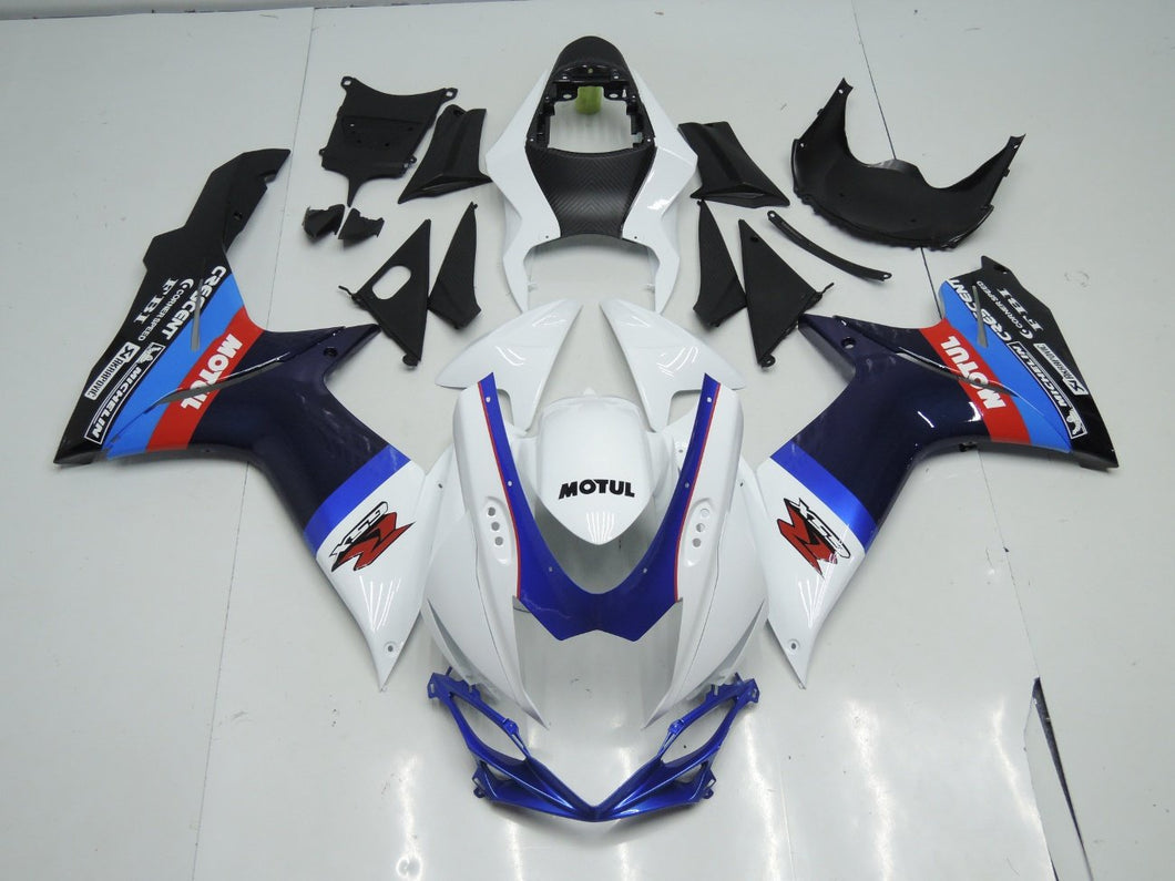 GSX R750 600 2011 2016 DARK BLUE AND WHITE