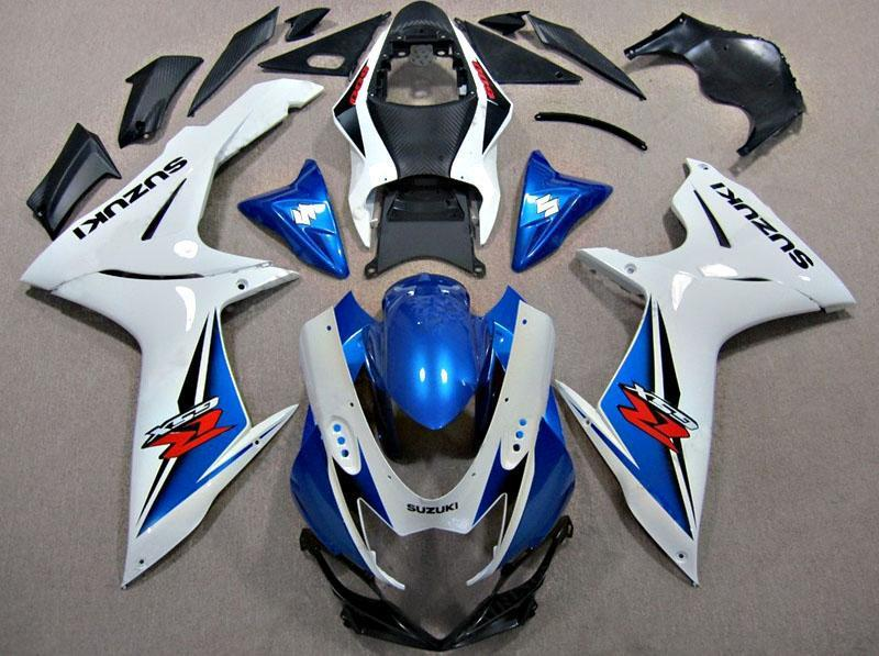 GSX R750 600 2011 2016 WHITE AND BLUE
