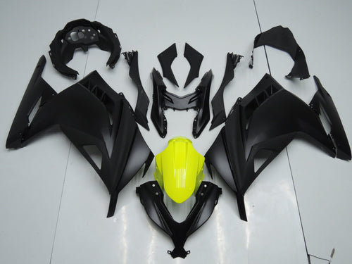 NINJA300 2013 2014 ALL MATT BLACK WITH YELLOW FENDER