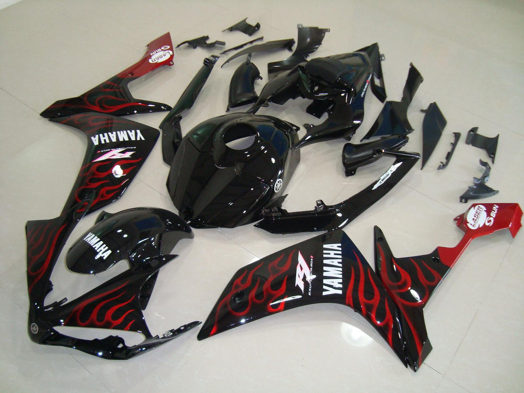R1 2007 2008 BLACK RED FLAME 4