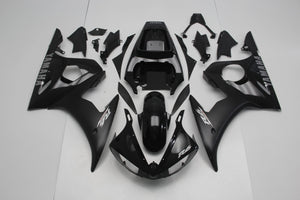 R6 2003 2005 BLACK WITH SILVER DECALS