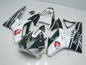 TRIUMPH DAYTONA 675 2009 2012 DARK GREEN AND WHITE