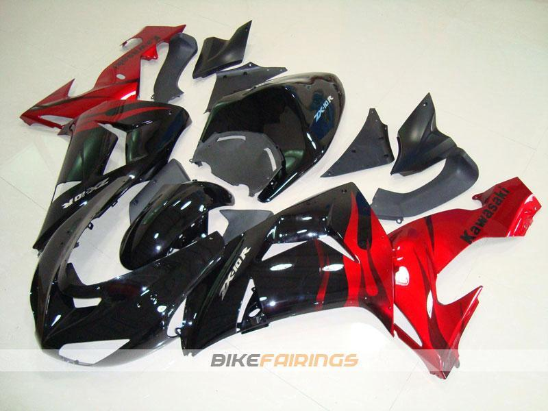 ZX 10R 06 07 RED BLACK FLAME