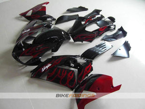 ZX 14R 06 07 RED FLAME