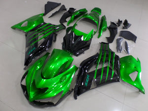 ZX 14R 2012 2014 CANDY GREEN AND BLACK