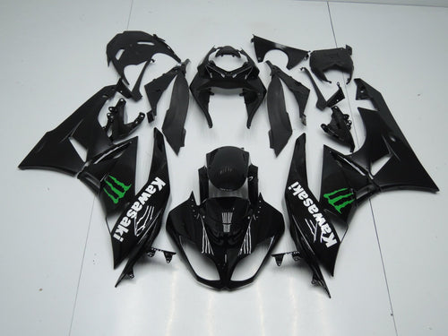 ZX 6R 2009 2012 BLACK WITH MONSTER