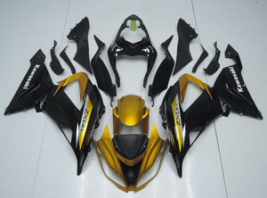 ZX 6R 2013 2014 GOLD AND BLACK
