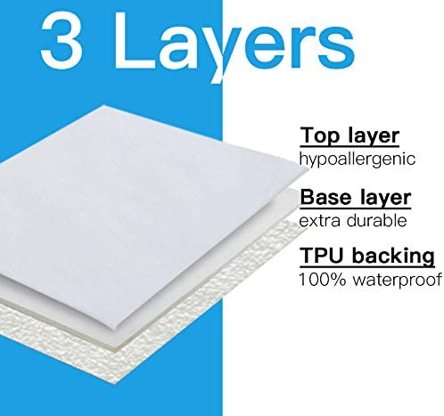 2 Pack Queen Size Waterproof Mattress Protector, Breathable Mattress Cover, Fitted Bed Cover