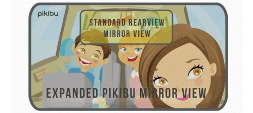 180-Degree View High Definition Clarity Baby Car Mirror, Black